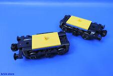 LEGO® City / Eisenbahn 7938 / Lok Waggon Achse Drehgestell mit Puffer / 2 Stück