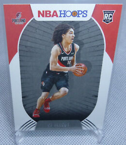 2020-21 Panini NBA Hoops Basketball CJ Elleby Rookie Card #250 BLAZERS