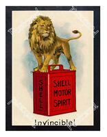 Historic Shell Motor Oil Advertising Postcard