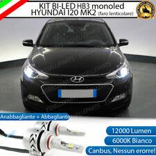 CONVERSIONE FARI FULL LED HYUNDAI I20 MK2 HB3 CANBUS BIANCO GHIACCIO MONOLED