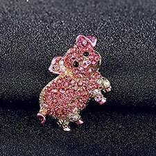 Stylish Piggy Shape Brooch Women Jewelry Exquisite Chic Creative Enamel Pins 6n