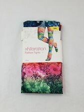 New Xhilaration Fashion Tights Small/Medium Multi Color Floral Design