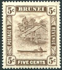 BRUNEI-1933 5c Chocolate Sg 68 UNMOUNTED MINT V23055