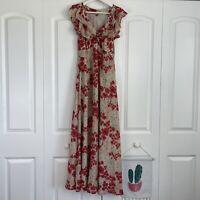Anthropologie Farm Rio Bird Floral Maxi Dress Women's Size Medium
