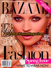 Bazaar 3/10,Kate Moss,Cindy Crawford,March 2010,NEW