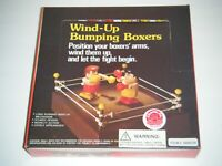 BUMPING BOXERS Wind Up Toy Figures Display Box (Made In China)