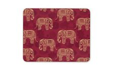 Red Elephant Pattern Mouse Mat Pad - Indian India Mum Sister Gift Computer #8856
