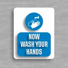Please wash your hands - Health & Safety Signs - Adheasive vinyl STICKER/CUSTOM
