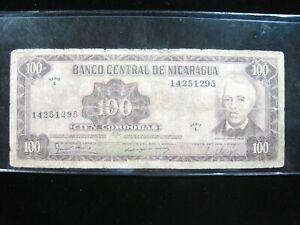 NICARAGUA 100 CORDOBAS 1979 SERIE C 295# Currency Bank Money Banknote