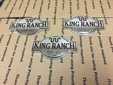 NEW FORD TRUCK KING RANCH EST 1853 GAS LID FENDER TRUNK TAILGATE EMBLEM CHROME 3
