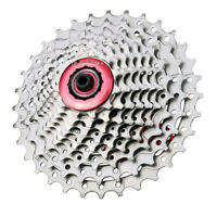 Steel 9/8 Speed 11-25T/ 11-32 Tooth MTB Cassette Mountain Bicycle Freewheel