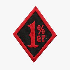 1% Diamond Motorcycle Biker Vest Patch