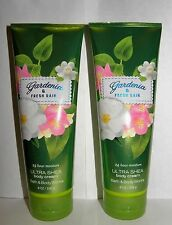 BBW Gardenia & Fresh Rain 24 Hour Moisture Ultra Shea Body Cream X2
