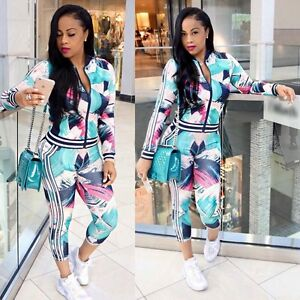 Sportswear Casual Suit  2Pcs Ladies Tracksuit Hoodies Sweatshirt Pants Sets YJ1