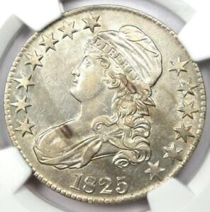 1825 Capped Bust Half Dollar 50C - Certified NGC AU Details - Rare Coin!