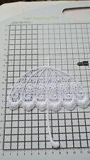 BIANCO, Guipure Pizzo, APPLIQUE, passamaneria, matrimonio-Ombrello Motivi - 12 x 11cm