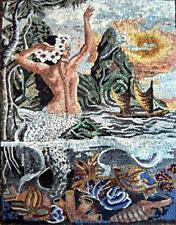 Mermaid Scene Mosaic Mural