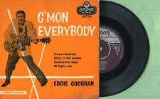 EDDIE COCHRAN C'mon Everybody / LONDON RE-U 1214 England 1961 EP 45 rpm VG