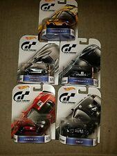 Complete 5 Car Set * Gran Turismo w/ REAL RIDERS * Hot Wheels Retro Series