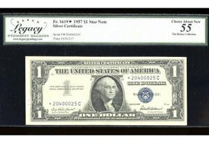 1957 $1 Silver ⭐️STAR *C Block Fr. 1619* Legacy 55 Serial *20400025C