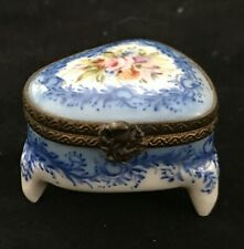 Vintage Amr Ancienne Manufacture Royale Hand Painted Pill Box, Limoges, France