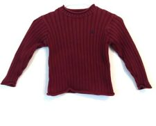 Polo Ralph Lauren Boys Maroon Cable Knit Crewneck Sweater Size 5 Made in Japan
