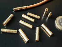 7 Cierres metal presión DORADOS (A.2,3mm) abalorios cierre (CP-10D) terminales