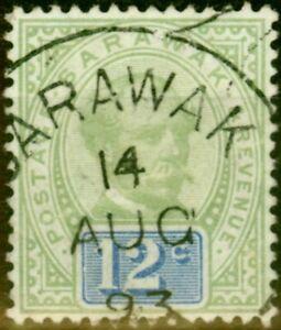 Sarawak 1888 12c Green & Blue SG16 Fine Used