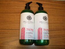 Mill Creek Botanicals Shampoo & Conditioner Tea Tree Calming Formula 14 fl oz ea
