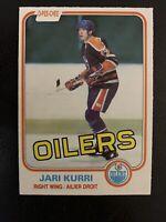 1981-82 O-Pee-Chee Jari Kurri Rookie Edmonton Oilers RC #107