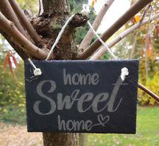 ST 23 - Home Sweet Home Schild Schieferschild Schiefertafel Lasergravur