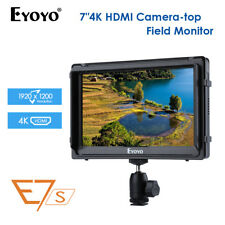 Eyoyo E7S 7 Inch On Camera Field Monitor 1920x1200 Supports 4K Aux Audio Input