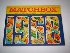 MATCHBOX LESNEY VINTAGE 1968 COLLECTORS CATALOGUE RARE U.S.A EDITION VNM