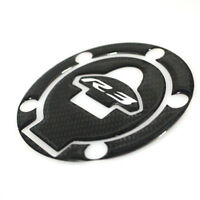 Motorcycle Carbon Fiber Fuel Gas Cap Cover Sticker Protector Fits For Yamaha R3
