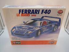"""BAUSATZ Bburago  Ferrari  F40  #56  Le Mans  """"1995""""  (blau)  1:18 OVP !"""