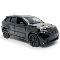1:36 Jeep Grand Cherokee Trackhawk SUV Model Car Diecast Toy Vehicle Gift Black