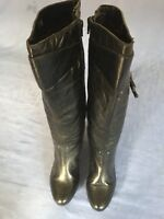EMOTION Ladies Black Leather Knee High Boots Size 6 (BT64).