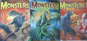 (3) Godzilla Famous Monsters of Film-land 18 x 24 Rolled Posters *** SIGNED ***