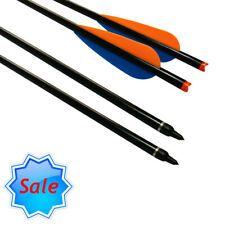 Aluminum Arrows Crossbow Bolts Hunting Archery Arrows Replaceable Tips 22 Inch