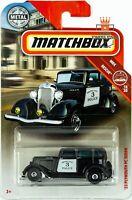 1933 PLYMOUTH POLICE CAR SEDAN MBX Rescue 18/20 2019 Matchbox