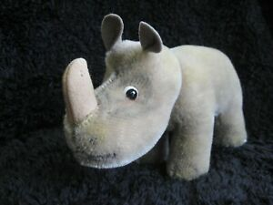 Rare 1954/74 german Steiff Rhinoceros ! Nosy !