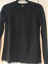 Gap Charcoal Grey 100% Cashmere Crew-Neck Long-Sleeve Jumper Size M