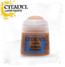 Games Workshop Citadel Paint Color - Layer - Skrag Brown - 22-40 - NUOVO #NSF3