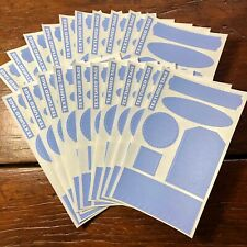 20 sheets Mrs Grossmans Textured Tags Periwinkle Blue Stickers Labels Shapes