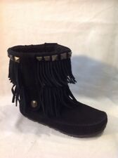 Animal Black Ankle Suede Boots Size 3