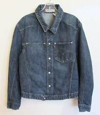 "Levis Engineered Jeans Jacket S 36"" 70100 Blue Denim Snap Front Mens #6583"
