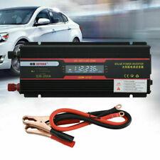 Inversor de Corriente Onda Modificada 2000W 12V A 220V Convertidor con LCD_