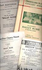 Leonide Massine * BALLET RUSSE de MONTE CARLO * Vera Zorina 1930's Programs