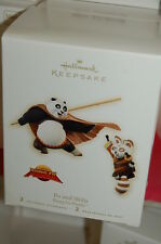 Hallmark 2008 Kung Fu Pand Po & Shifu Movie Set of 2 Ornaments