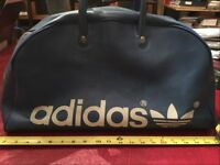 VINTAGE: ADIDAS Firebird TREFOIL Gym DUFFEL BAG Blue White Vtg